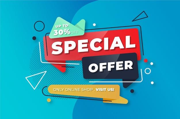 Banner colorido abstrato da oferta especial