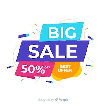 Banner colorido abstrato grande venda