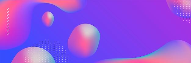 Banner colorido abstrato