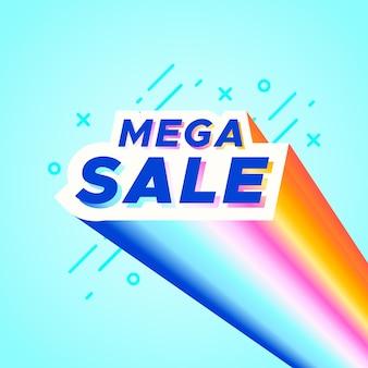 Banner colorido de venda