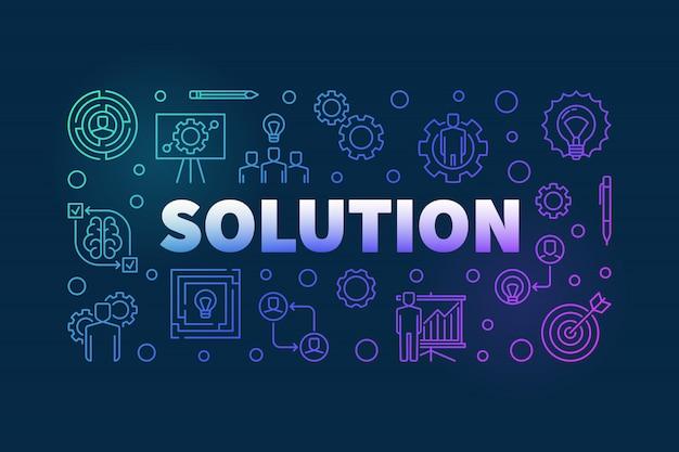Banner colorido de vetor de solução