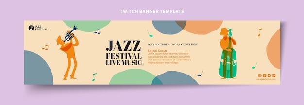 Banner colorido desenhado à mão no festival de música