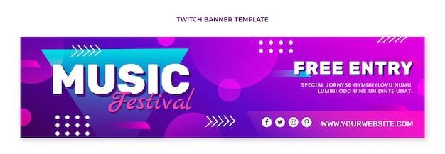 Banner colorido do festival de música