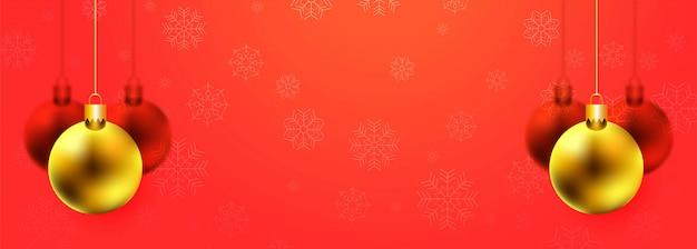 Banner colorido lindo decorativo bola de natal