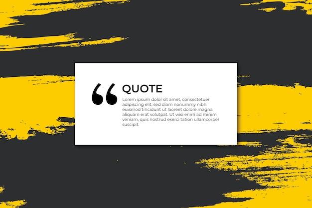 Banner colorido para citação com traços
