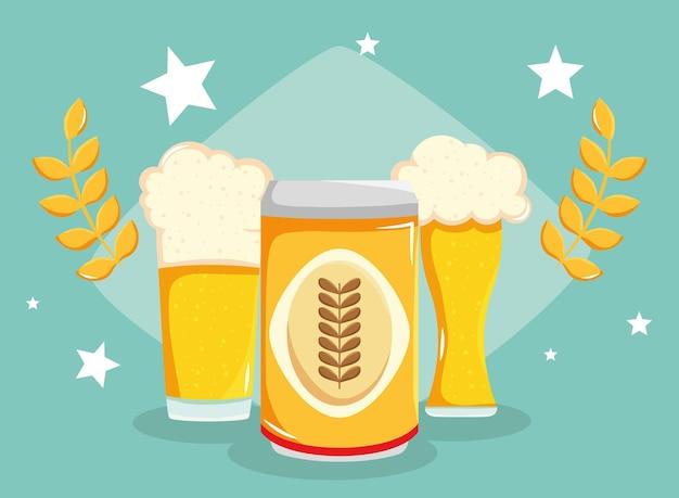 Banner com cervejas e spikes