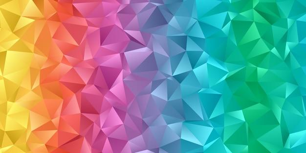 Banner com desenho colorido arco-íris de baixo poli