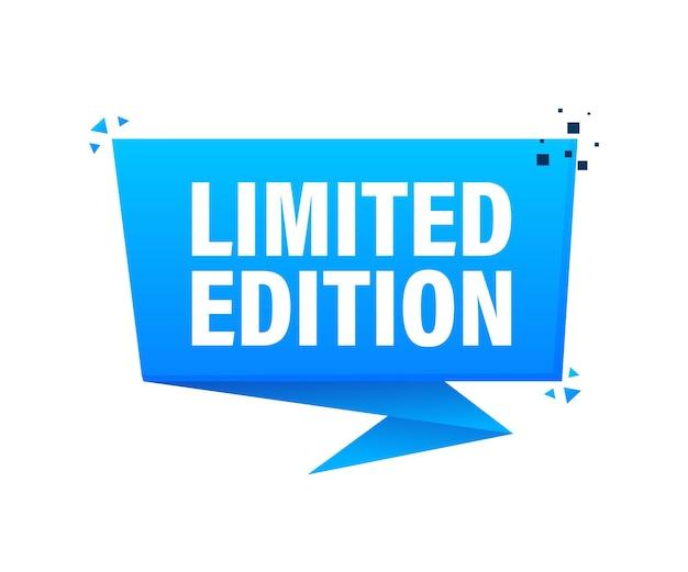 Banner com edição limitada azul em branco para design de impressão