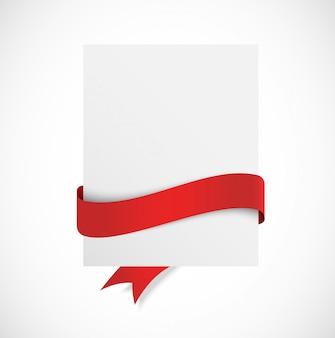Banner com fita vermelha