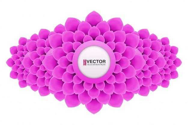 Banner com flores em design plano