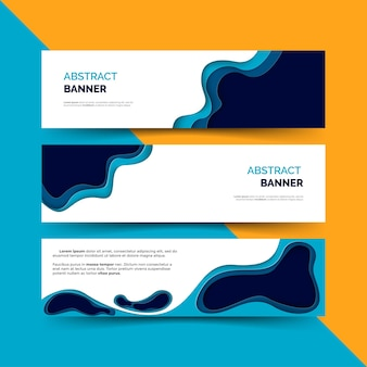 Banner com formas recortadas de papel
