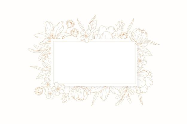 Banner com gravura de fundo floral