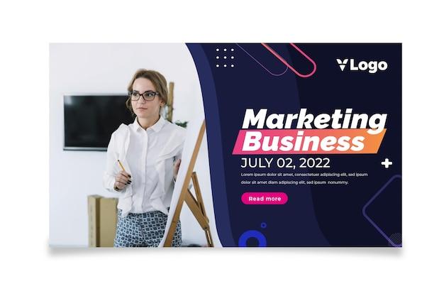 Banner comercial de marketing