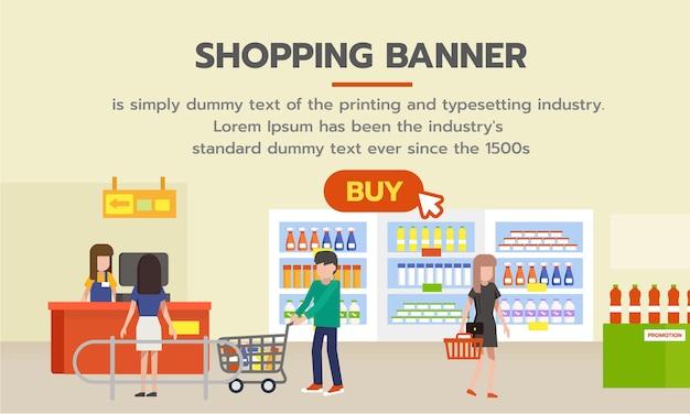 Banner comercial para fazer compras online.