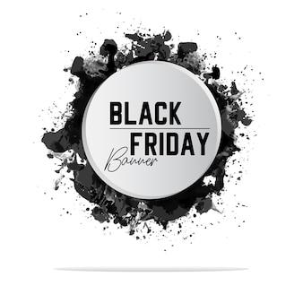 Banner cor preta na sexta-feira branca
