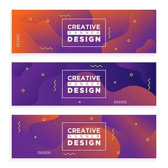 Banner criativo abstrato