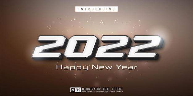 Banner criativo de ano novo com números editáveis de 2021