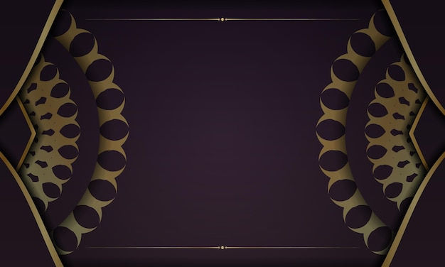 Banner da borgonha com padrão grego dourado e espaço para seu logotipo ou texto