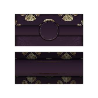 Banner da borgonha com padrão ouro vintage para desenho sob o seu texto
