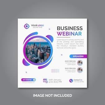 Banner da conferência webinar de negócios de marketing digital