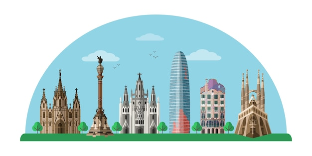Banner da excursão turística de barcelona