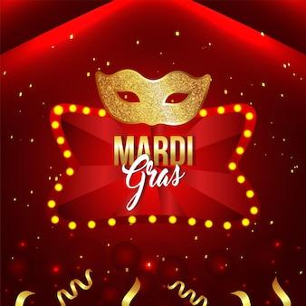 Banner da festa de carnaval ou mardi gras