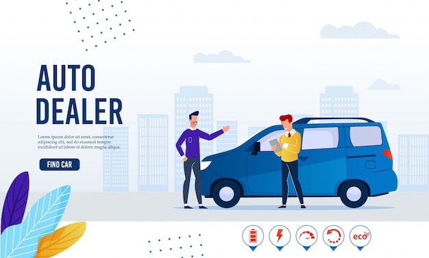 Banner da página da web serviço de revendedor moderno