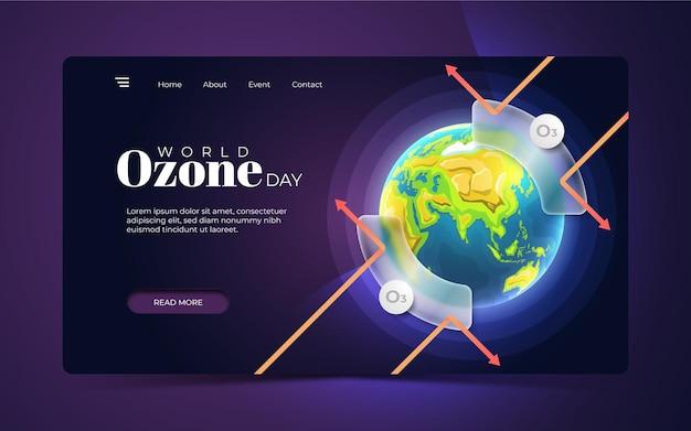Banner da página de destino da web do dia mundial do ozônio