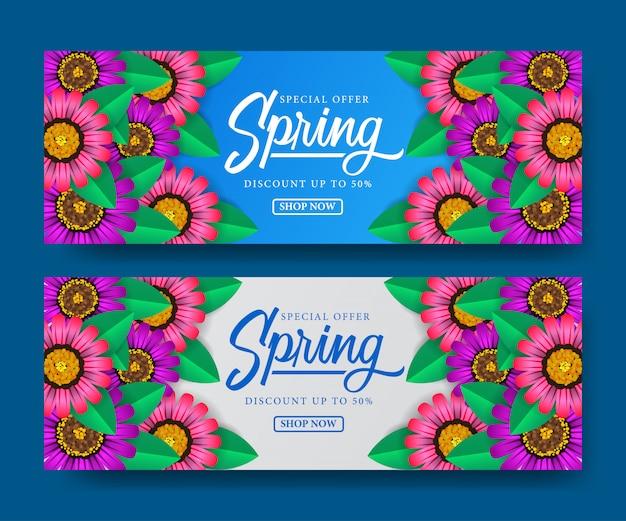 Banner da temporada de primavera de venda