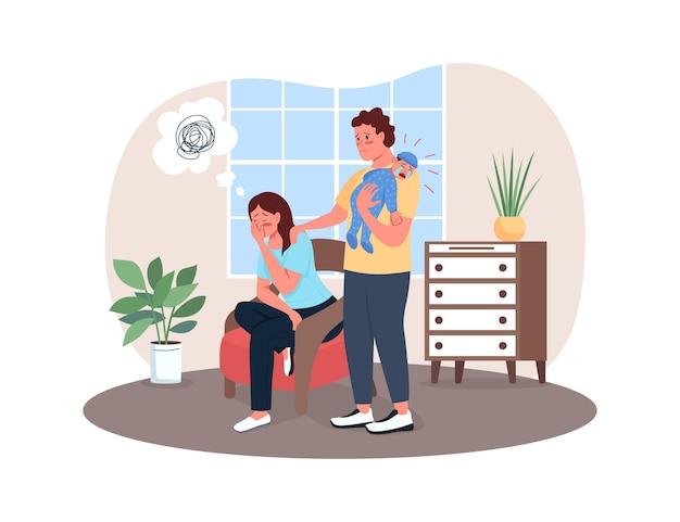 Banner da web 2d para depressão pós-parto