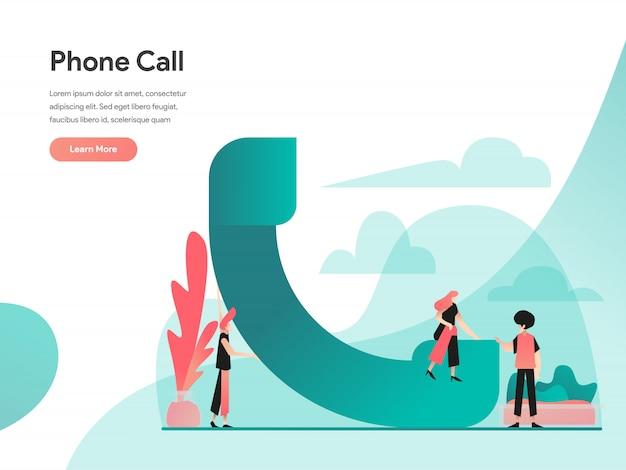 Banner da web de chamada telefônica