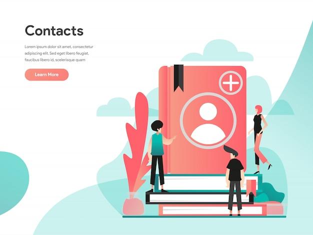 Banner da web de contatos do telefone