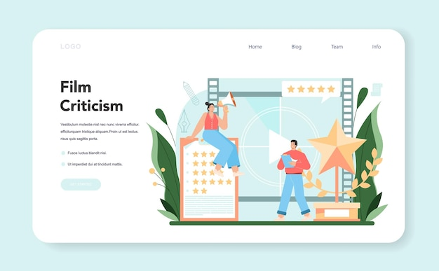 Banner da web de crítico profissional ou conjunto de páginas de destino