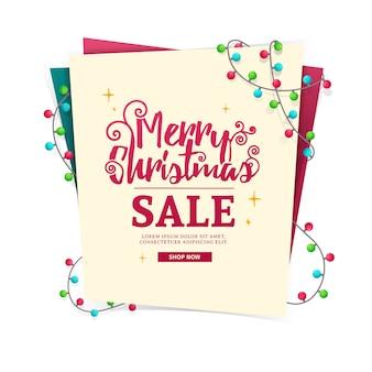 Banner da web de design de modelo para a venda de feliz natal.