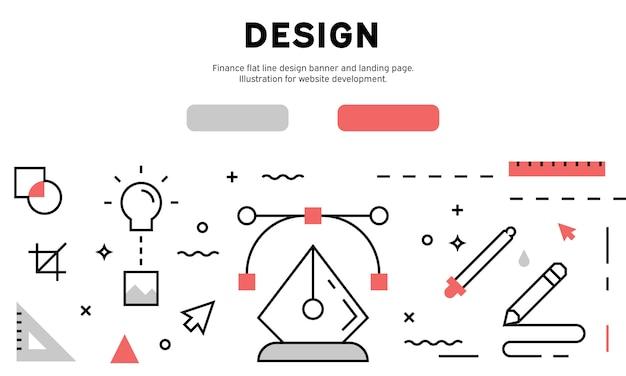 Banner da web de design gráfico