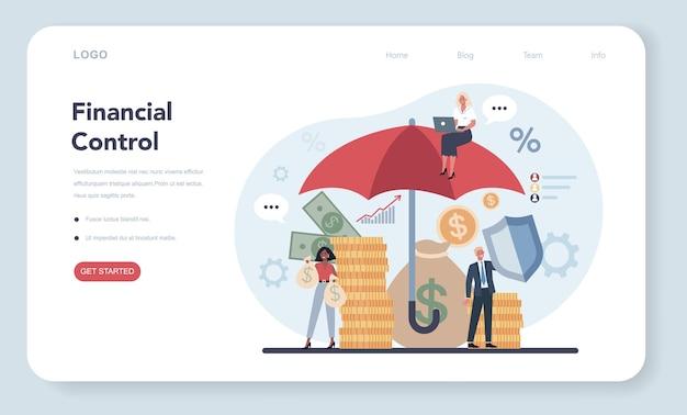 Banner da web de financiador ou conceito de página de destino
