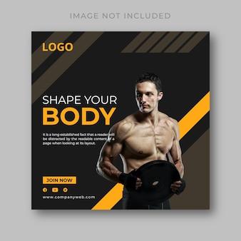 Banner da web de fitness e academia