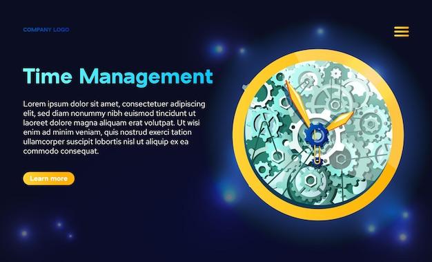Banner da web de gerenciamento de tempo.