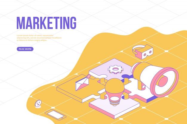 Banner da web de marketing