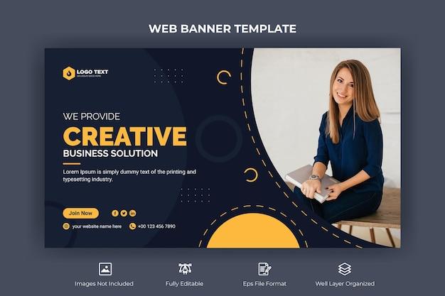 Banner da web de negócios corporativos e modelo de miniatura do youtube