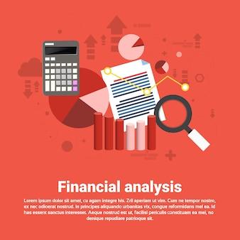 Banner da web de negócios de análise financeira