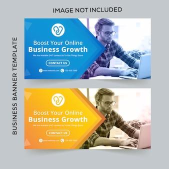 Banner da web de negócios