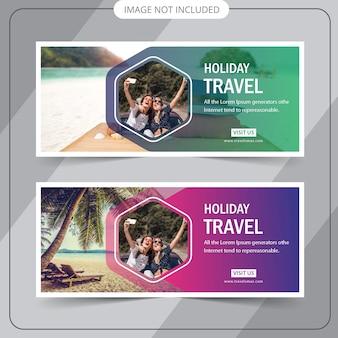 Banner da web de viagens