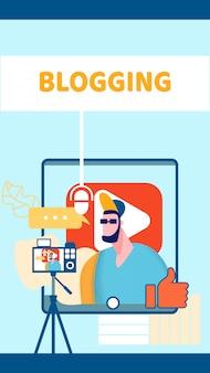 Banner da web do blog de vídeos da internet
