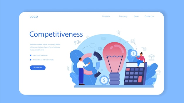Banner da web do curso escolar de educação de marketing ou página inicial.