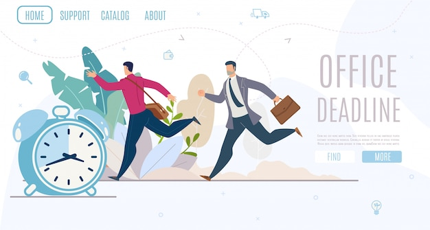 Banner da web do serviço de planejamento de prazo do escritório