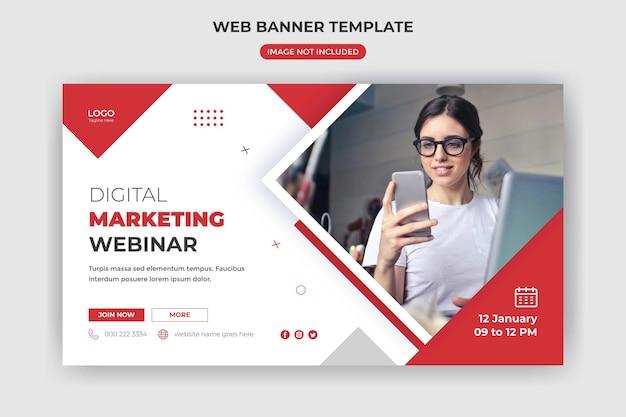 Banner da web e capa do site criativo business agência de marketing digital modelo de postagem de mídia social