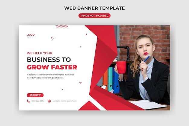 Banner da web e capa do site modelo criativo da agência de marketing digital postagem na mídia social