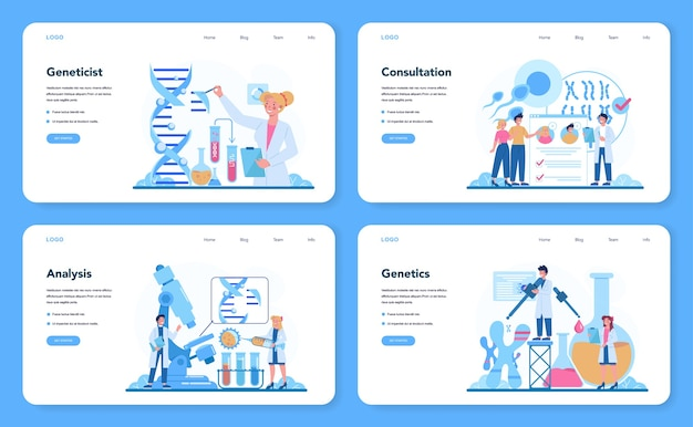 Banner da web geneticista ou conjunto de páginas de destino