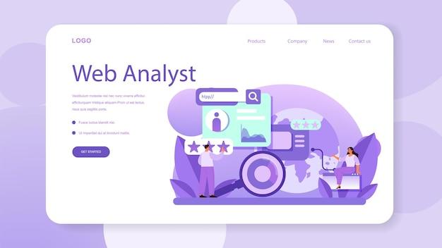 Banner da web ou página de destino de análise de concorrentes